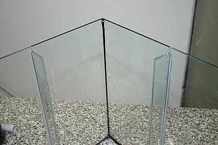 Glasstreifen als Filterhalterung